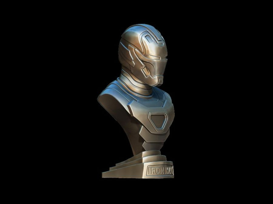 Buste d'Iron Man royalty-free 3d model - Preview no. 7
