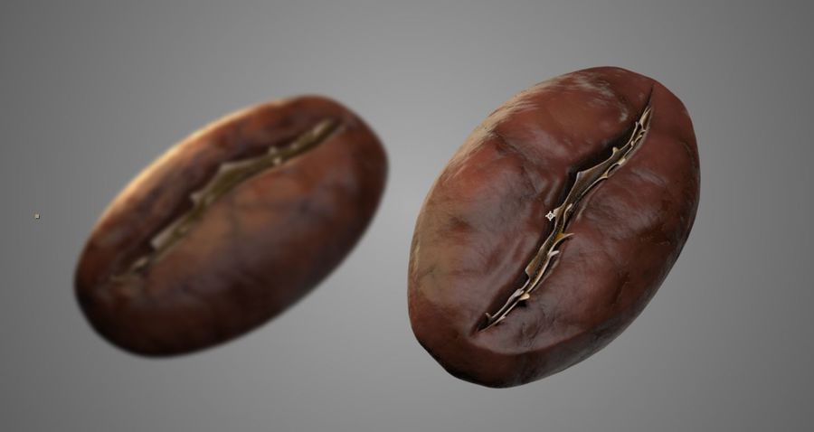 coffee bean royalty-free 3d model - Preview no. 1