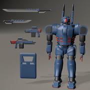 Mecha-Rüstung 3d model