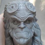 Hellboy Art Bust 3d model