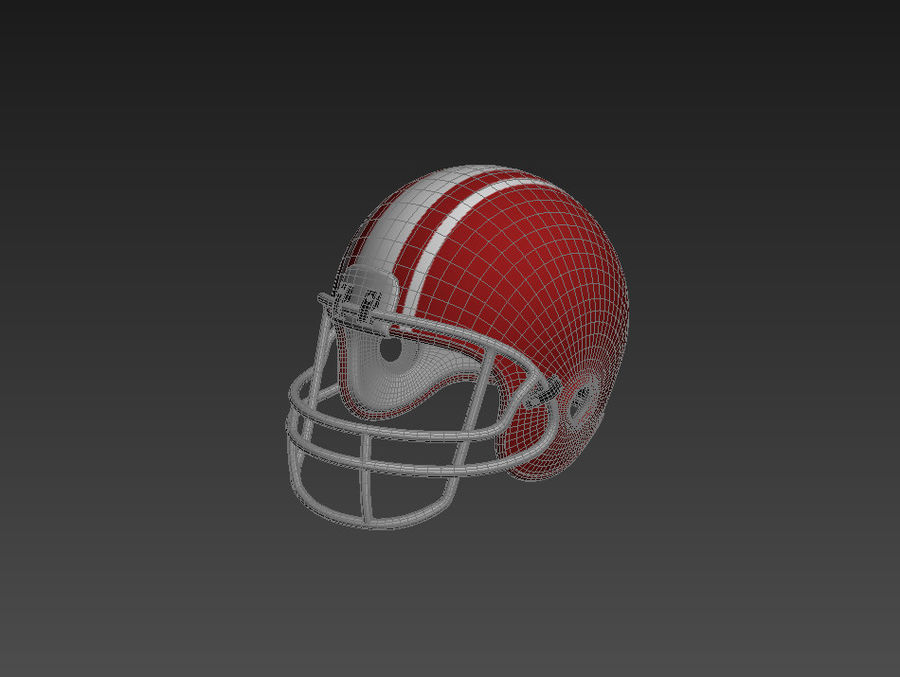 Football helm royalty-free 3d model - Preview no. 9