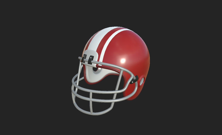 Football helm royalty-free 3d model - Preview no. 21