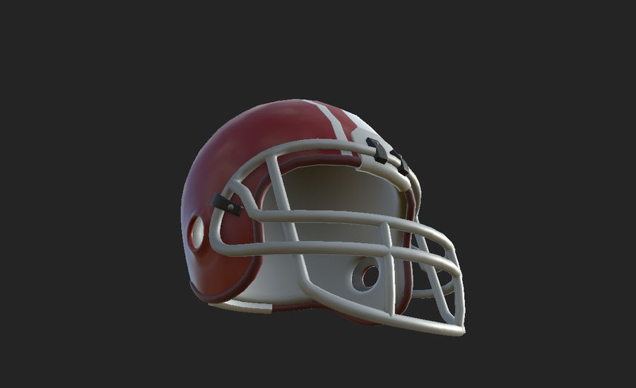 Football helm royalty-free 3d model - Preview no. 18