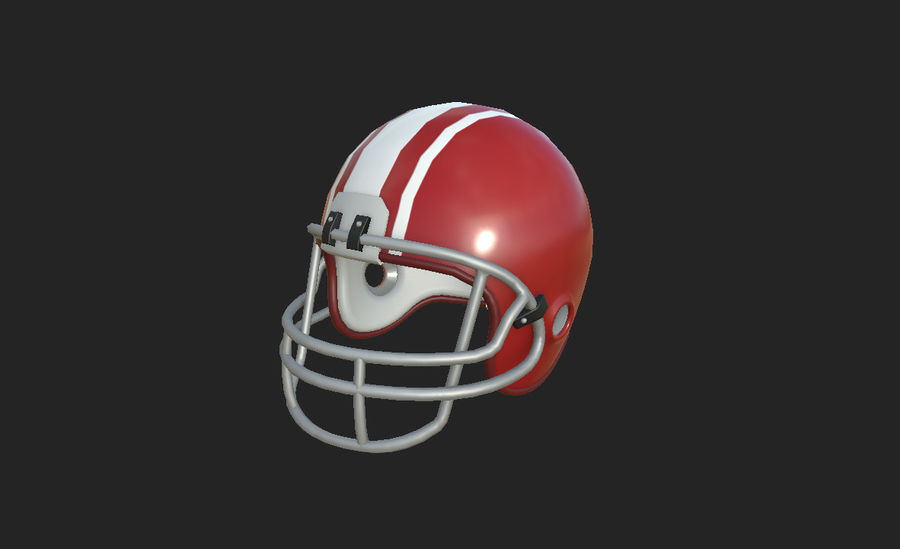 Football helm royalty-free 3d model - Preview no. 14