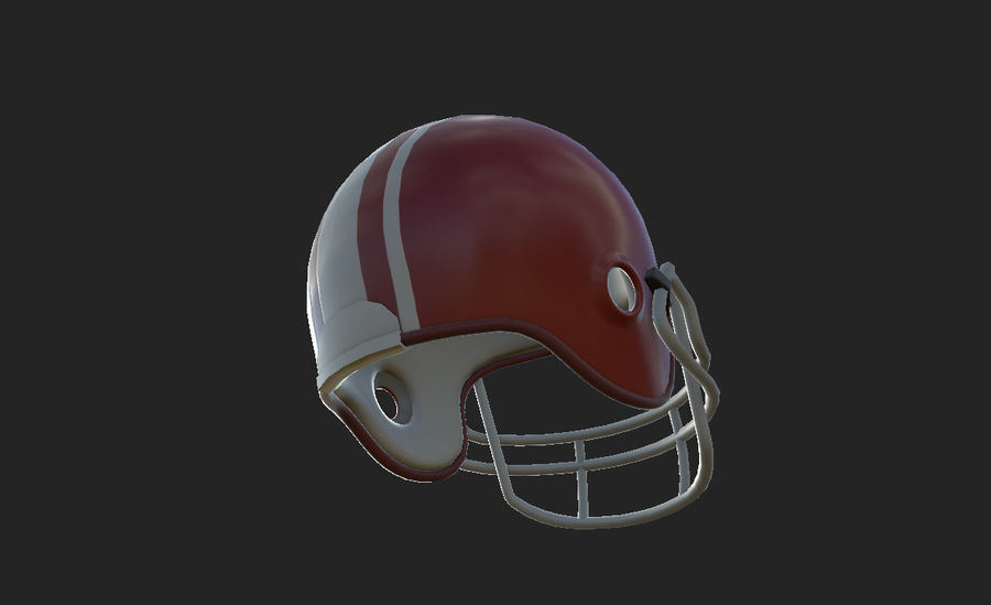 Football helm royalty-free 3d model - Preview no. 19
