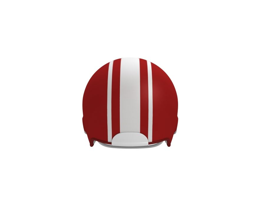 Football helm royalty-free 3d model - Preview no. 6