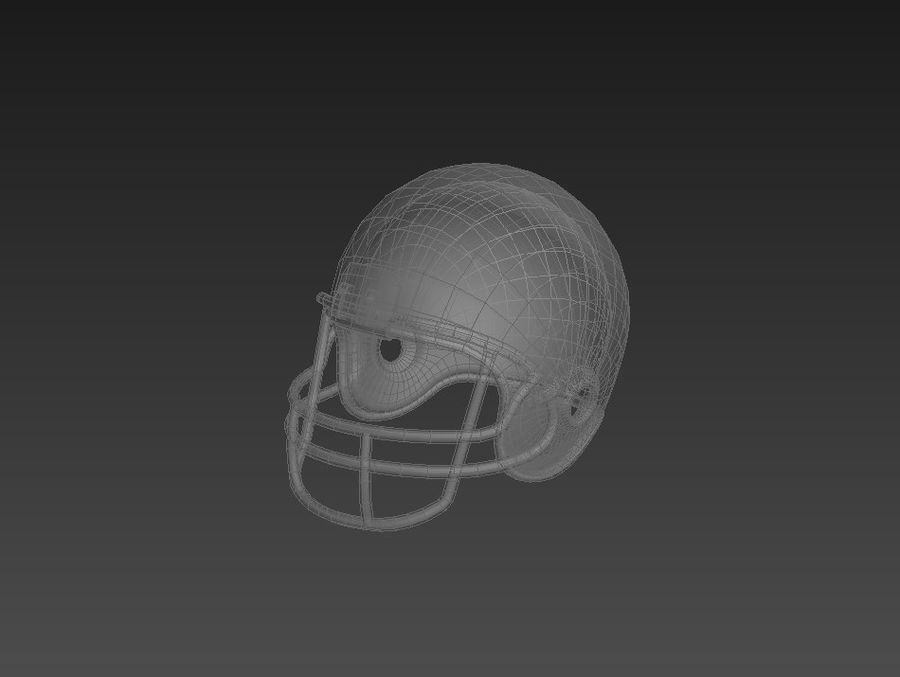 Football helm royalty-free 3d model - Preview no. 11