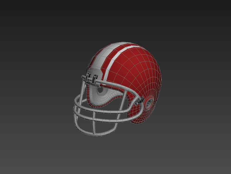 Football helm royalty-free 3d model - Preview no. 10