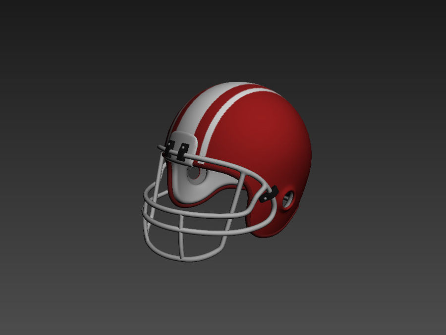 Football helm royalty-free 3d model - Preview no. 8
