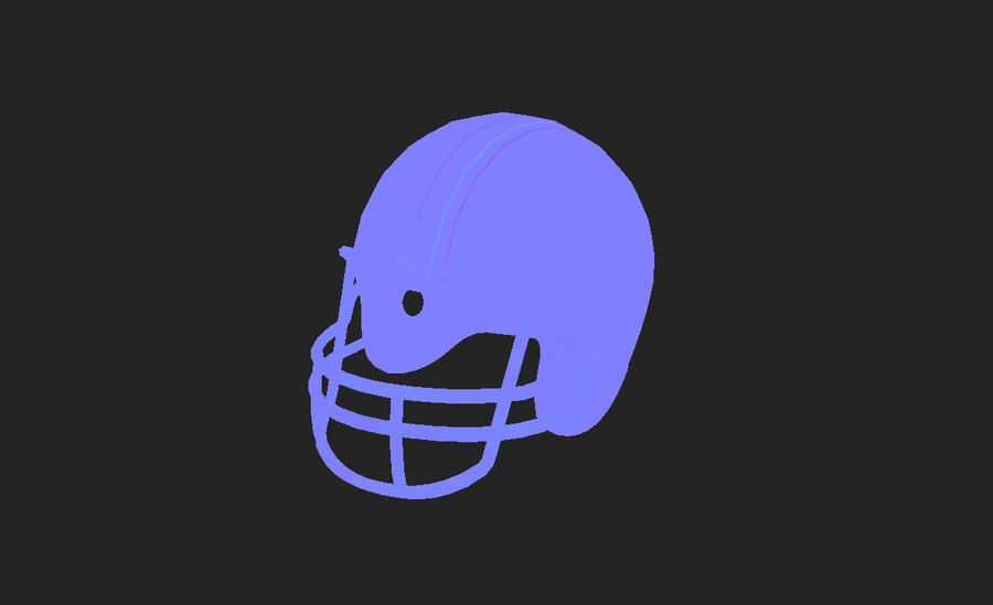 Football helm royalty-free 3d model - Preview no. 16