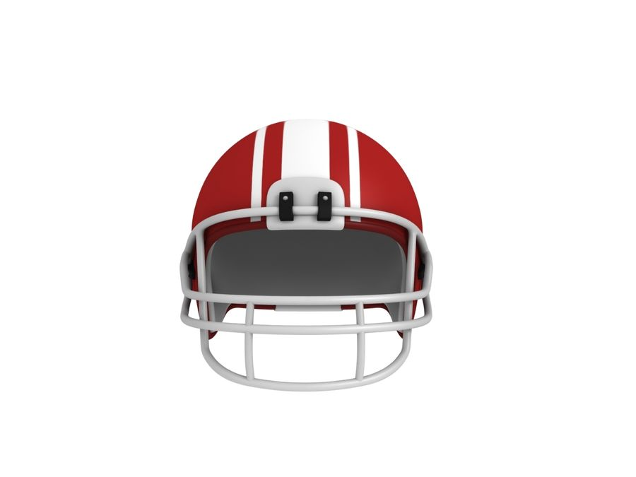 Football helm royalty-free 3d model - Preview no. 3