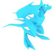 Low Poly Bird Dragon MITTEL 3d model