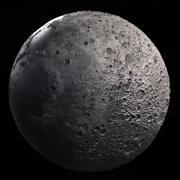 Mond hoch 3d model