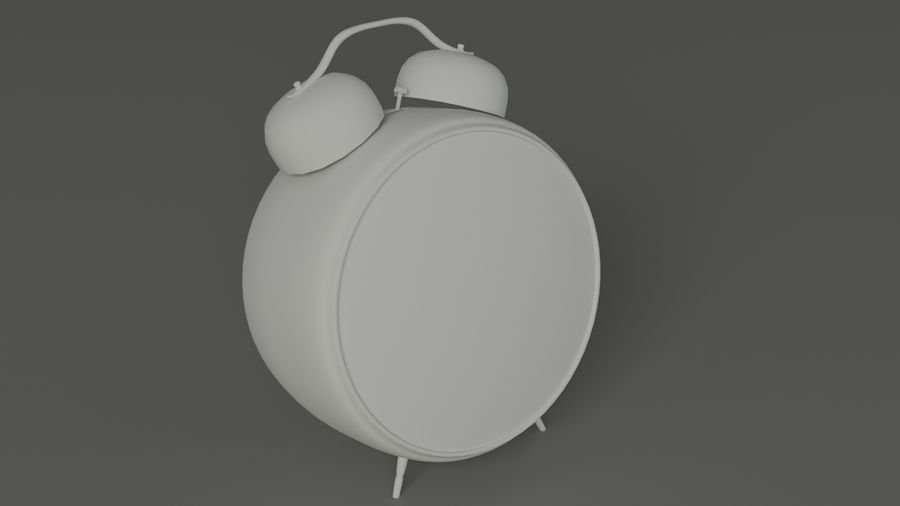 Tischuhr royalty-free 3d model - Preview no. 5