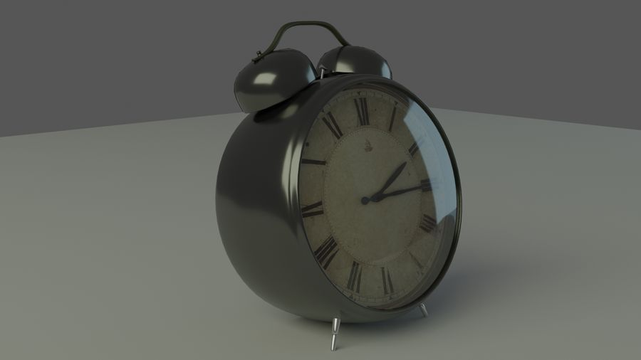 Tischuhr royalty-free 3d model - Preview no. 2