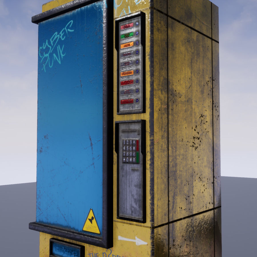 Distributeur automatique de boissons / collations / Automat royalty-free 3d model - Preview no. 3