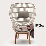 Kettal Cala扶手椅 3d model