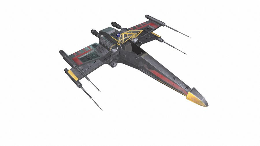 X-wing royalty-free 3d model - Preview no. 11
