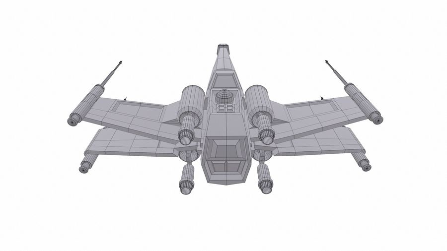 X-wing royalty-free 3d model - Preview no. 7