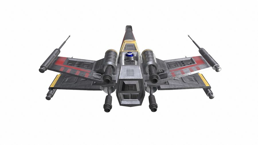 X-wing royalty-free 3d model - Preview no. 6