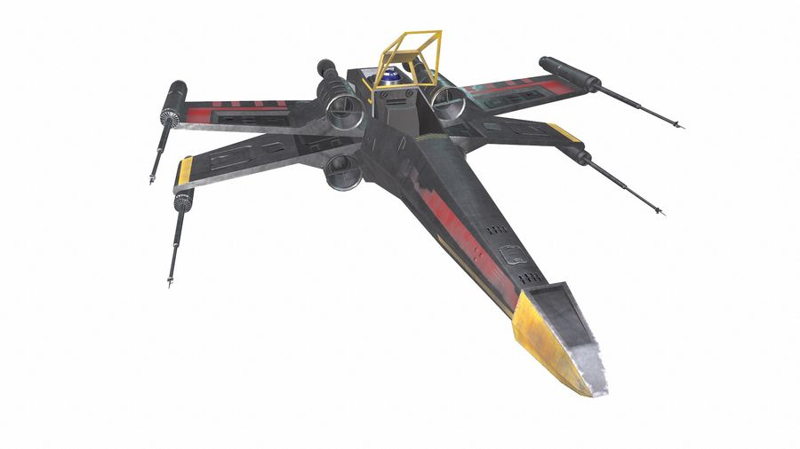 X-wing royalty-free 3d model - Preview no. 12