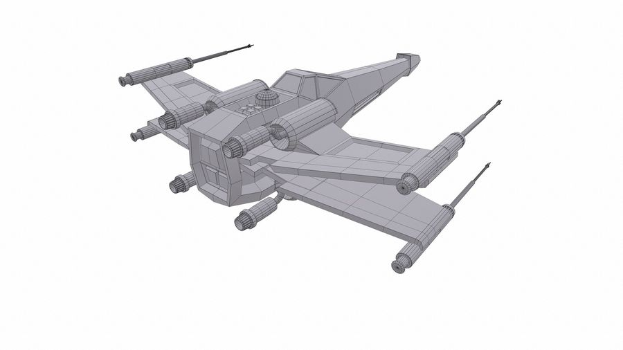 X-wing royalty-free 3d model - Preview no. 10