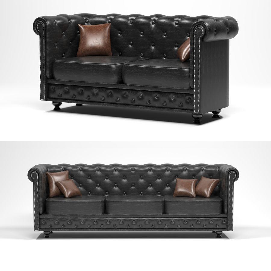 мебельный гарнитур royalty-free 3d model - Preview no. 1