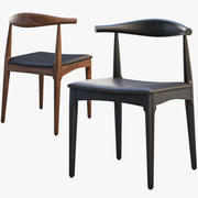 CH20 Elbow Chair (2 options) 3d model