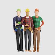 建设者人 3d model