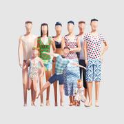 夏の人々 3d model