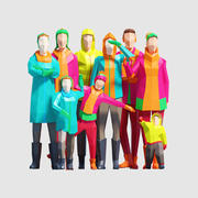 Зимние Люди 3d model