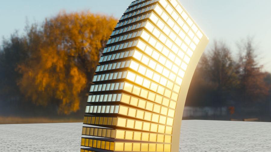 Edificio flessibile royalty-free 3d model - Preview no. 4