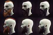 Acconciatura e barba Low Poly 3d model