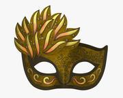 Karneval venetiansk mask 3d model