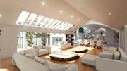 Blender Eevee Modern Mansion 3d model