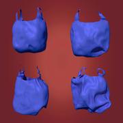Residuos de bolsas de plástico modelo 3d