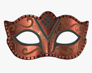 Carnival mask decorated with design 3d model