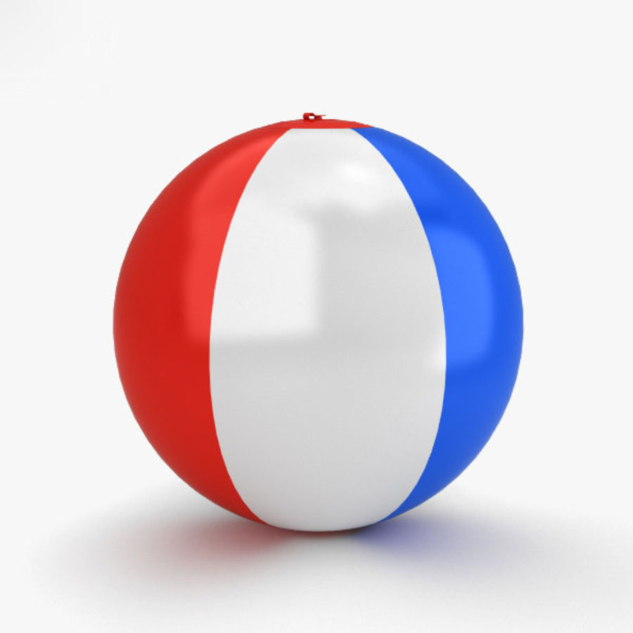 Beach Ball royalty-free 3d model - Preview no. 7