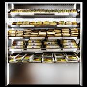 Prateleiras sanduíches e almoços embalados 3d model