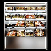 Prateleiras, sanduíches e almoços embalados 2 3d model