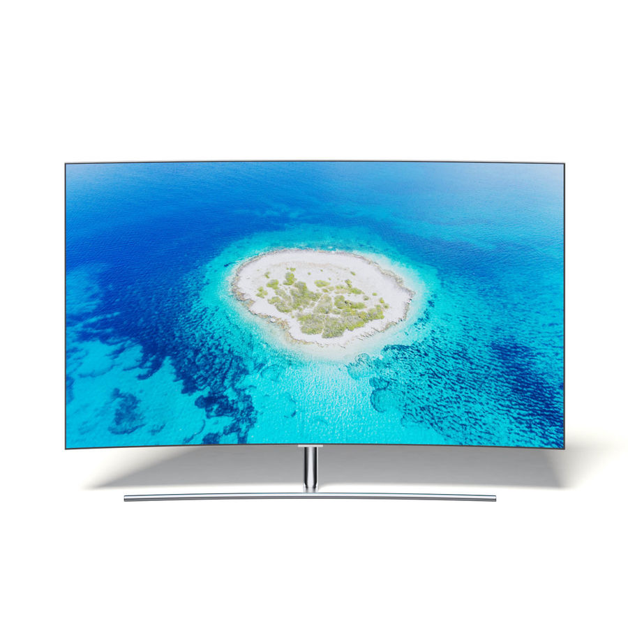 Curved OLED TV 3D Model royalty-free 3d model - Preview no. 1