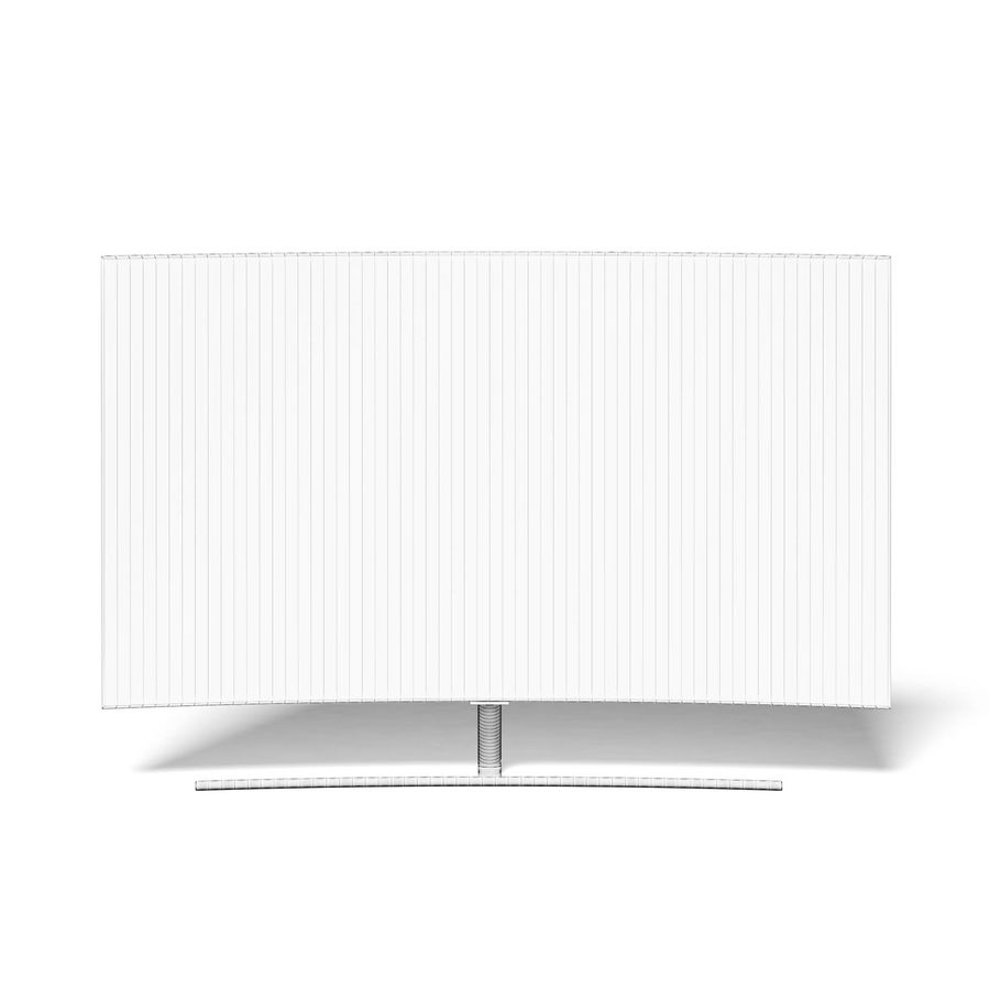 Curved OLED TV 3D Model royalty-free 3d model - Preview no. 2