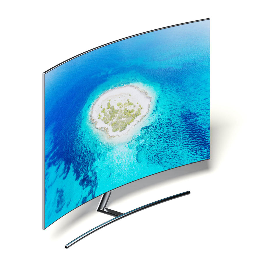 Curved OLED TV 3D Model royalty-free 3d model - Preview no. 3