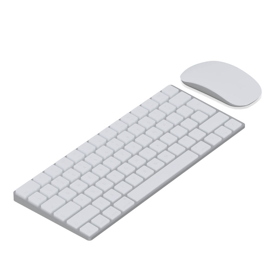 Apple Keyboard 3D 모델 royalty-free 3d model - Preview no. 3