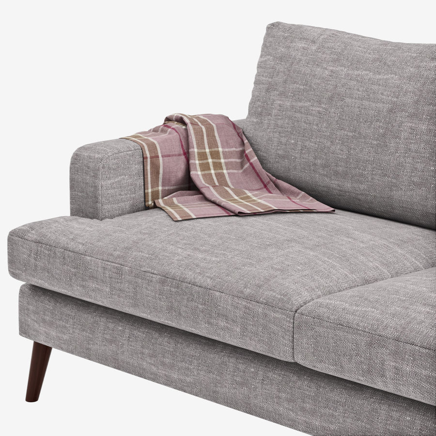 Sofa Made Hewitt royalty-free 3d model - Preview no. 5