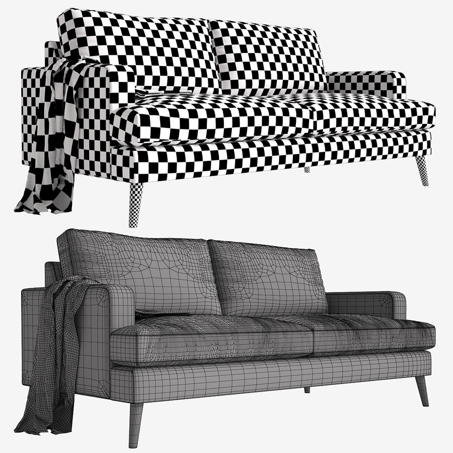 Sofa Made Hewitt royalty-free 3d model - Preview no. 3