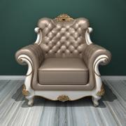 Deluxe enkel soffa 3d model