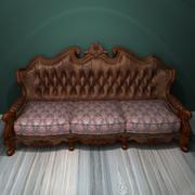 Deluxe soffa med flera platser 1 3d model
