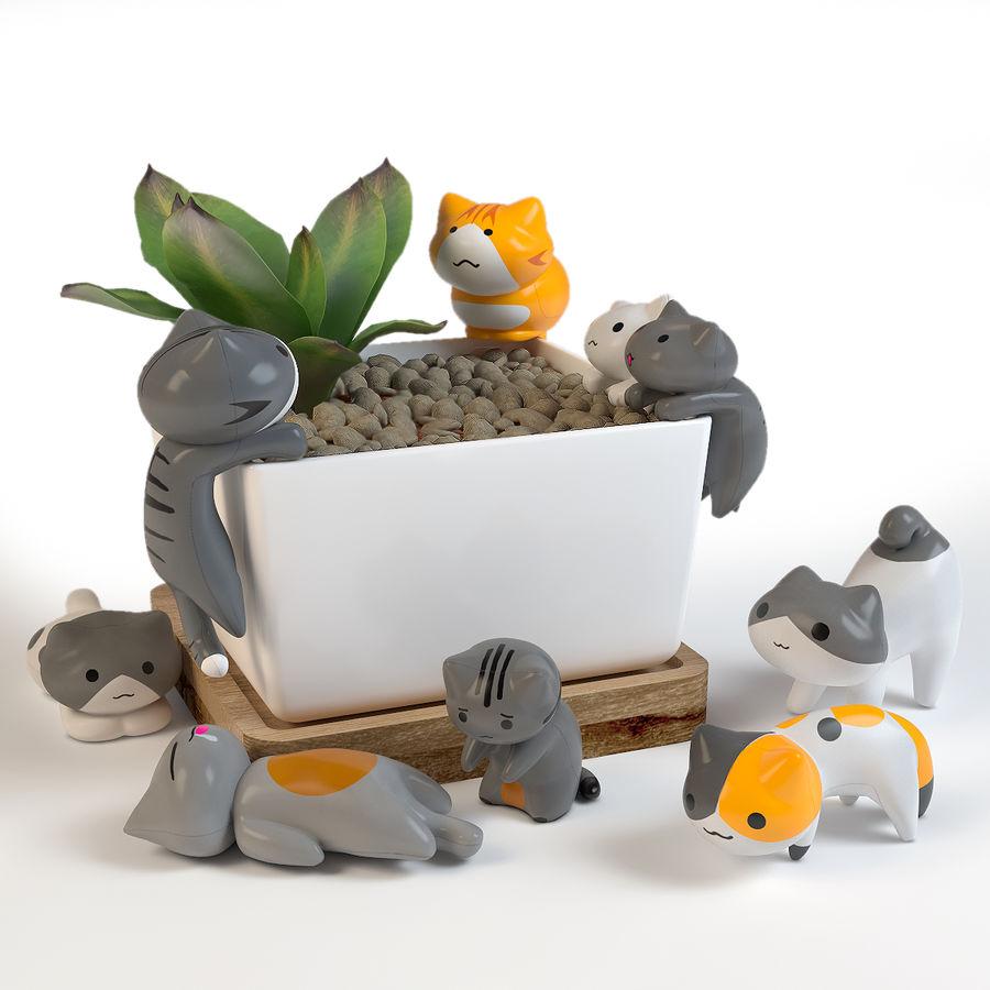 猫。装饰 royalty-free 3d model - Preview no. 1