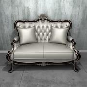 Deluxe 2-sits soffa 3d model